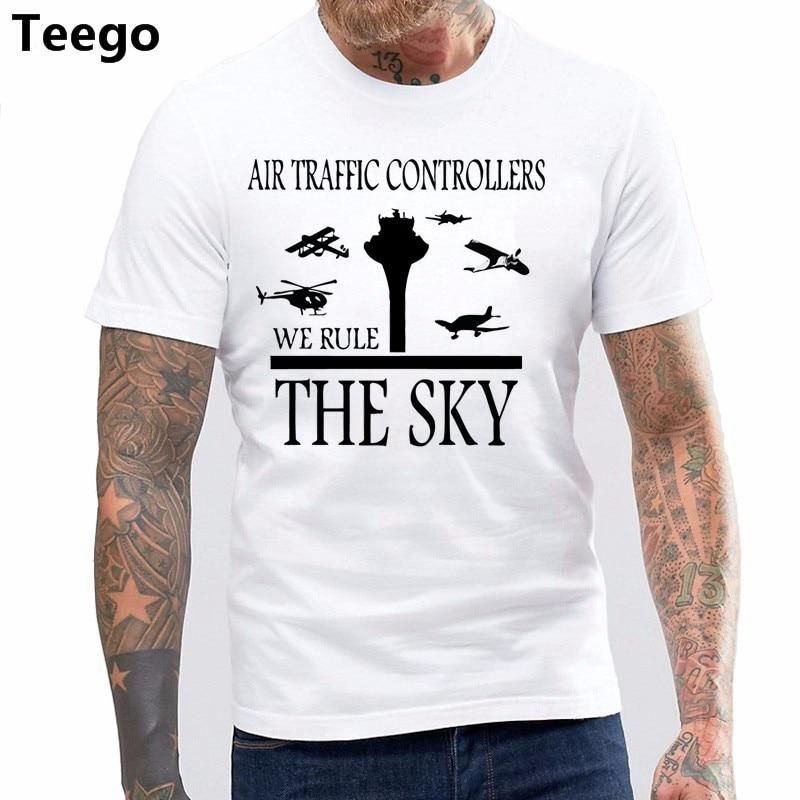 100% Cotton O-neck Printed T-shirt Aviation Air Traffic Controller ATC T-Shirt