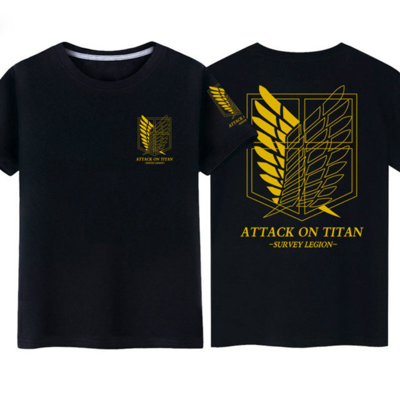 Japan Anime Attack on Titan Shingeki no Kyojin Legion Cosplay Costume  High Quality Fashion Short Sleeve Top T-shirt Costume