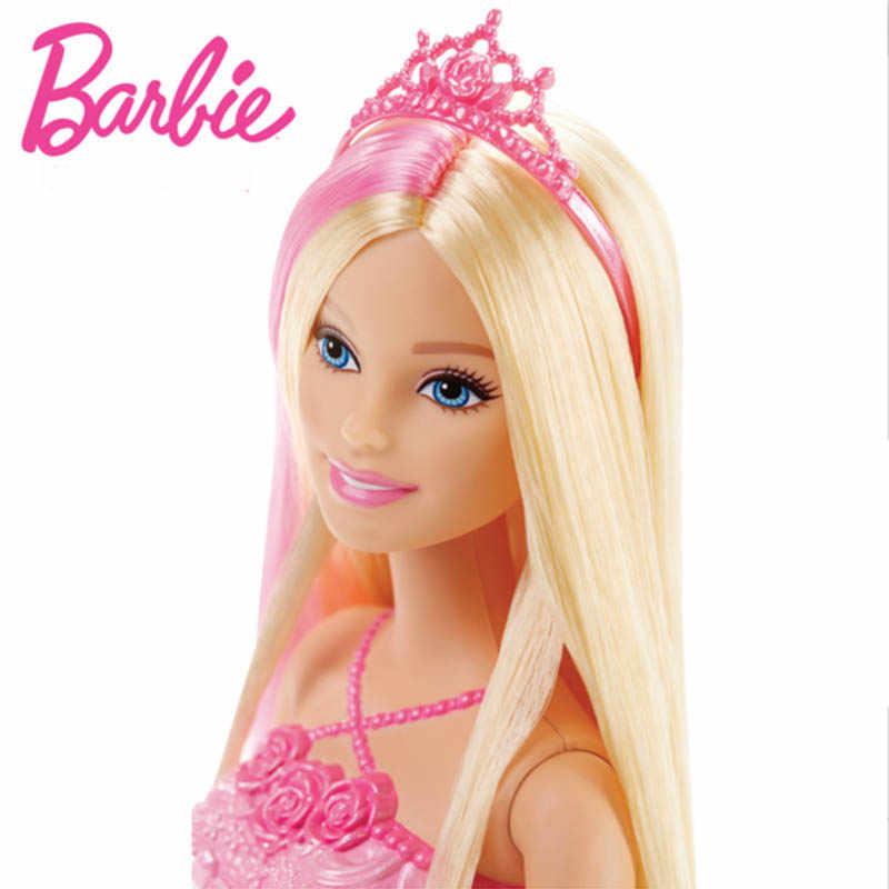 Original Barbie OPP PrincessLong Hair Barbie Doll DKB56 Birthday Gift For  Girls Free Shipping