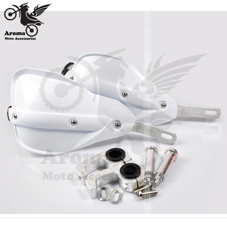 white Universal ATV Motorcycle Handguards Hand Guards Protectors Motorbike 7/8'' 22mm for yamaha moto suzuki honda kawasaki part 2pcs motorcycle handguards hand guards protectors 7 color option motocross protector universal plastic for monster