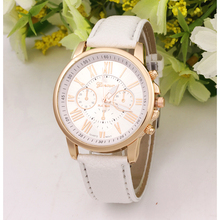 Fashion high-end women's double layer literally quartz watch business casual Rome literally watch Geneva Leather Watch Free Ship