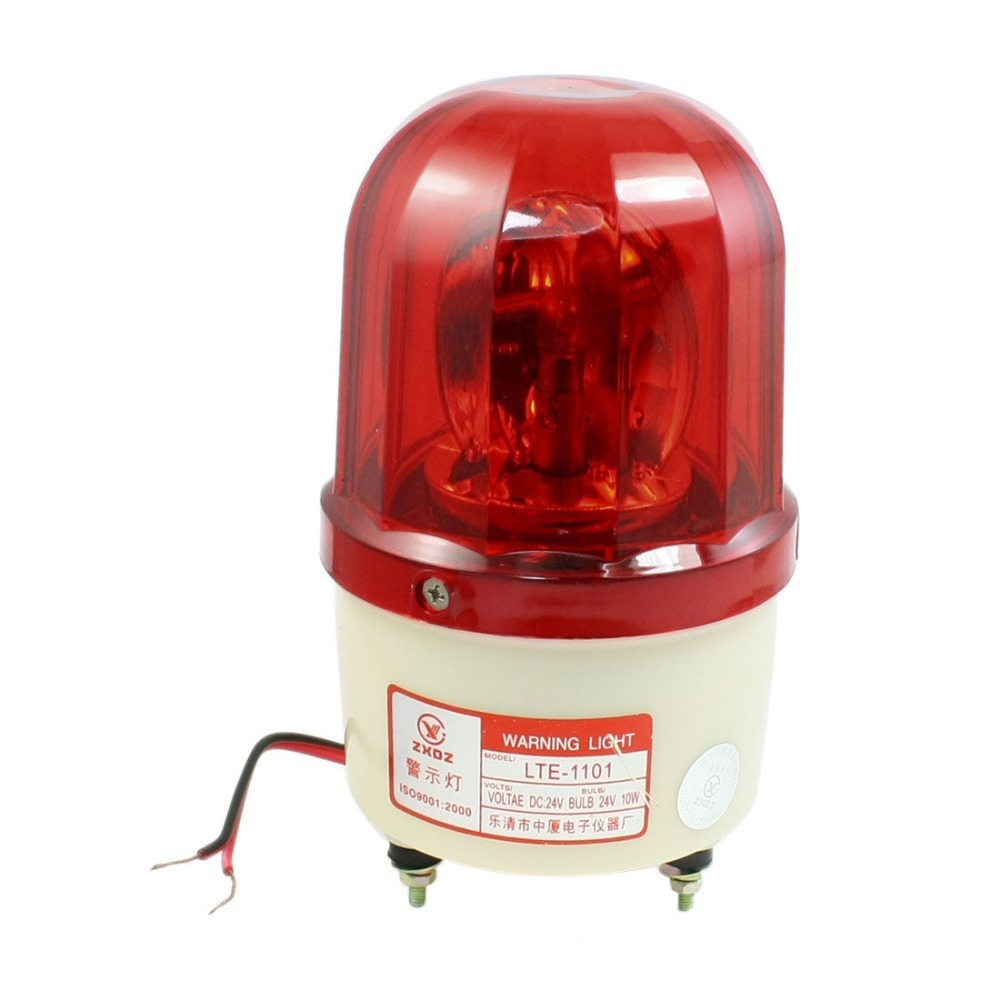 DC 24V 10W Red Rotating Flash Light Industrial Signal Warning Lamp LTE-1101