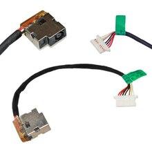 Acessórios plug substituição dc power jack peças de reparo com cabo durável laptops conector porto de carregamento útil para hp 250 255