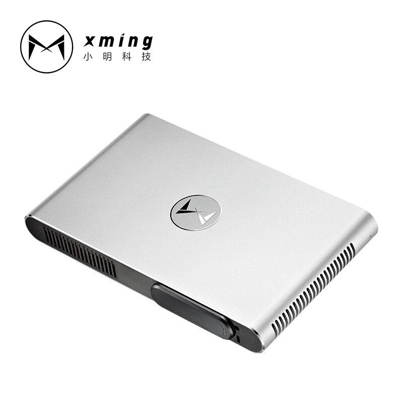 XMING M2 Портативный лазерный проектор 3D Full HD 1080 P 4 К Android 4,4 1280*800 Bluetooth 800 ANSI lumen WI-FI 300 дюйма