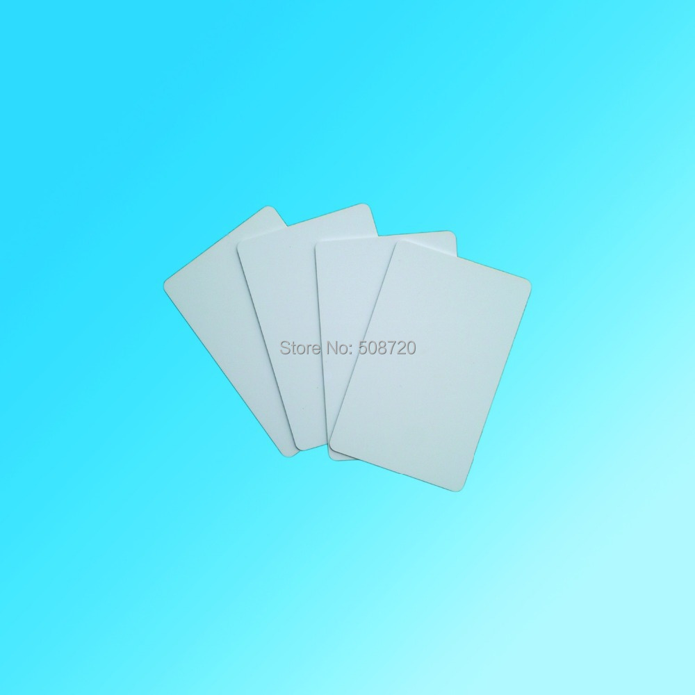 Plastic blank white credit card size 13.56mhz universal ntag203 RFID NFC Card compatible with all nfc phone/device