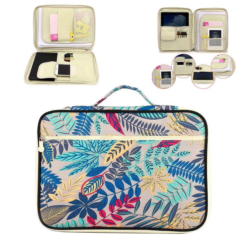 LHLYSGS 2018 New Embroidery Pattern Travel Bag Women Large capacity A4 File Holder Document Bag Waterproof Fashion Ipad Bag 24k gold ring pure real pattern exquisite fine jewelry mini resizable design fashion female new hot sale 999 trendy party women