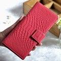 Patrón de lujo Del Cocodrilo del Cuero Genuino Carpetas de Las Mujeres de Estilo Europeo y Americano de Moda Diseñador Mujeres Organizador Monedero
