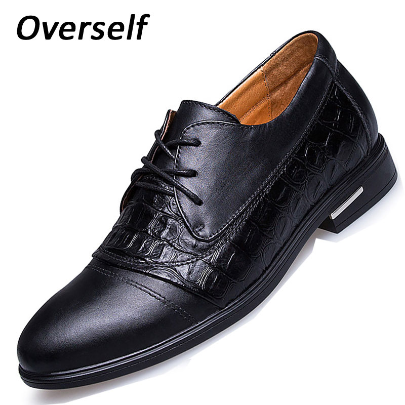 Fashion Genuine Cow Leather Height Increasing Classic Business Shoes Men's Dress Shoes Wedding heighten Shoes for man Oxfords