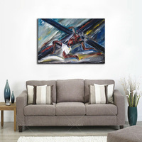 Newest Artwork Handmade High Quality Abstract Jesus Oil Painting On Canvas Hand Painted Abstract Christian God