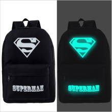 NEW Harajuku shoulder bag Korean version of luminous mass Superman backpack College Wind tide men  travel bag school students
