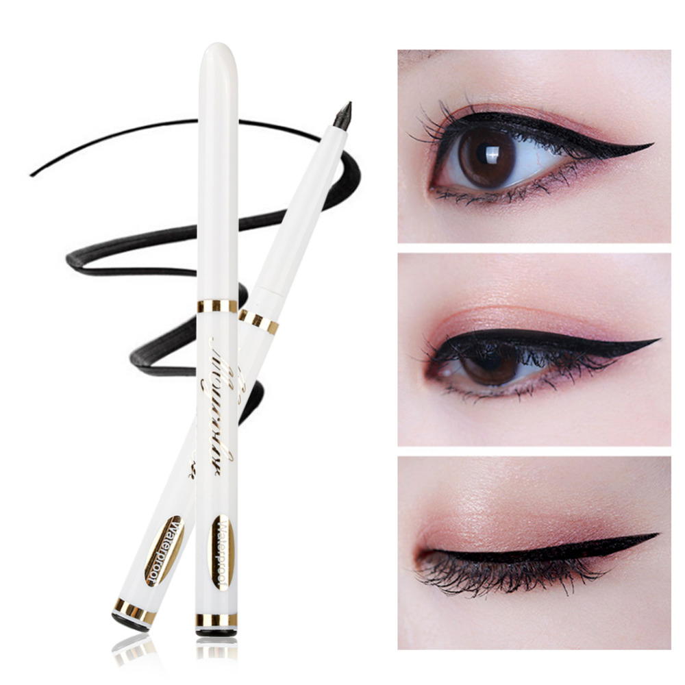 ELECOOL 1pc Liquid Cat Eyeliner Pen Makeup Beauty Smokey Eyeliner Eye Stencil Models Template Shaper Tool TSLM2