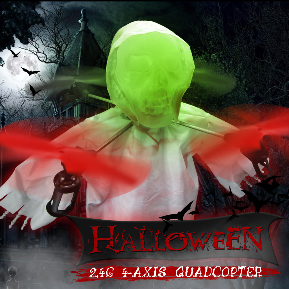Halloween Skull 2 4Ghz 4CH RC Quadcopter Helicopter Remote Control font b Drone b font