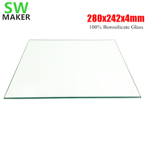 SWMAKER 280x242x4mm 3D Printer 100% Borosilicate Glass plate for DIY Flyingbear P905X 3D printer Build Plate(China)
