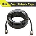 10 metros Baja Pérdida de Cable Coaxial RG6 50ohm N Macho A N Macho Coaxial Cable de Comunicación Para Teléfono Móvil amplificador de Señal Del Repetidor