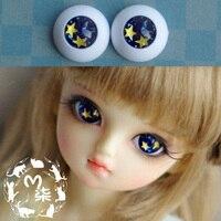 1ペア人形アクセサリー眼球14ミリメートル16ミリメートル18ミリメートルアクリル目用bjd人形