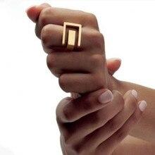 ¡Timlee R096 envío gratis estilo Punk Grace de moda/platium Metal geométrica anillos de dedo joyería de moda al por mayor!