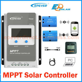 Tracer 10A 20A 30A 40A 1210AN 2210AN 3210AN 4210AN with MT50 meter MPPT Solar Charge Controller 12V 24V EPEVER PV regulator - DISCOUNT ITEM  26% OFF All Category
