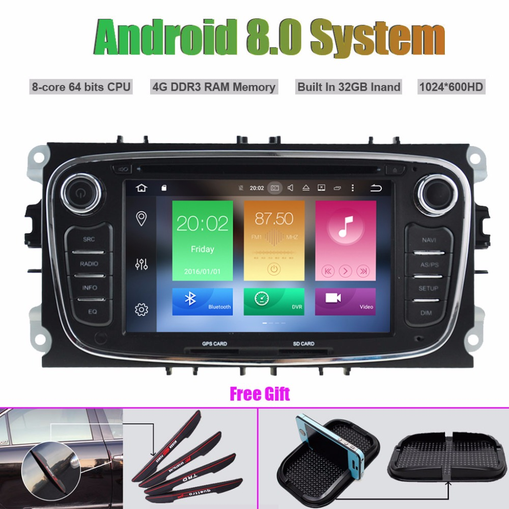 Octa-Core Android 8.0 CAR DVD Player for FORD MONDEO (2007-2013)/FOCUS(2008-2011)/S-MAX(2008-2011)/GALAXY(2011-2012)