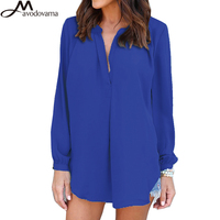 AVODOVAMA M 2018 Spring Summer Sexy Long Sleeve Plus Size S 5XL Shirts Women Fashion V