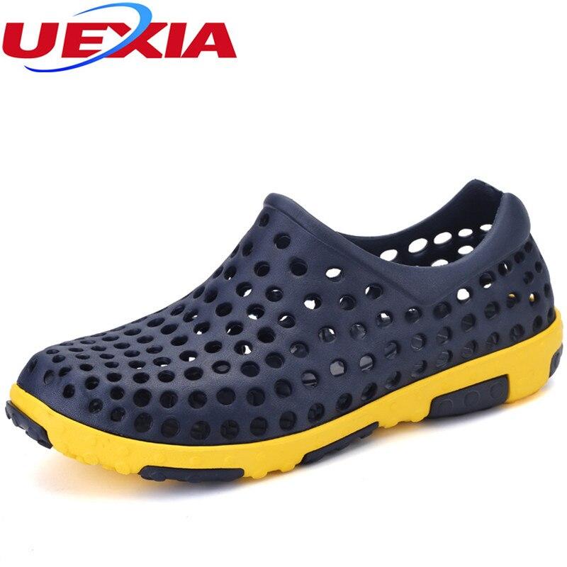 Zapatos Antideslizante royal Moda Deporte gray Blue Jalea Sandalias Agujero Verano Zapatillas Agua Hombre Ocasional white Playa Respirable Hollow Brown Hombres Sqwdg5n