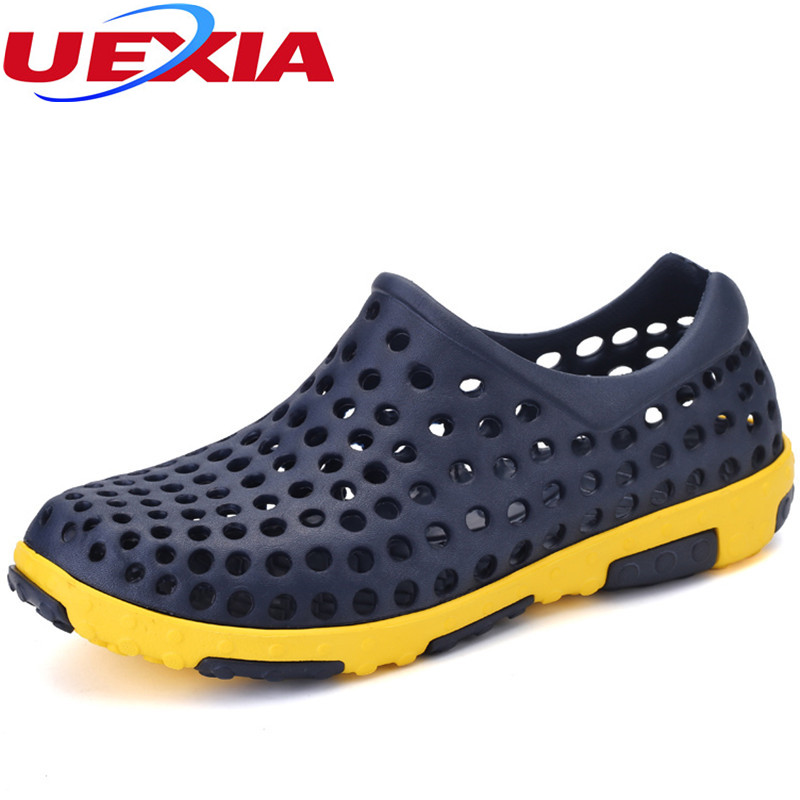 Water Anti-slip Shoes Slippers Sandalias Hombre Jelly Summer Fashion Men Hollow Sandals Casual Sport Breathable Beach Hole Shoes women slippers wholesale fashion lovers hole shoes garden nest female models sport sandals hole sandals