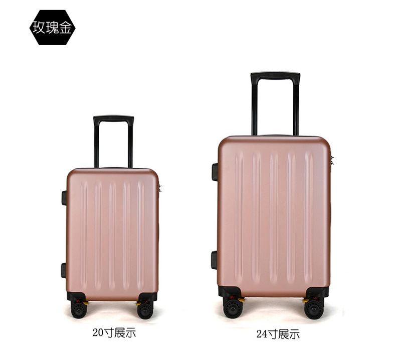 ZYJ Travel Trolley Luggage Men Women Alloy Business Solid Rolling Scratchproof Airplane Suitcase Luggage Spinner Wheels Trunk (11)