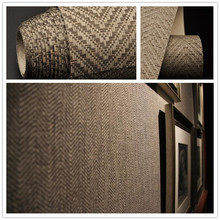 Fashion brown texture paper weave Wallpaper Luxury home Wall paper TV Wall decoration wandbekleding design Wallpapers