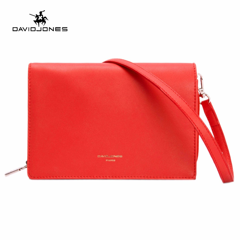 DAVIDJONES women handbag faux leather female shoulder bags small lady solid messenger bag girl brand crossbody bag drop shipping