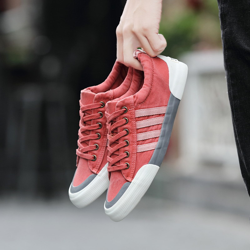 Enthusiastic New Fashion High Top Casual Shoes For Men Pu Leather Lace Up Red White Black Color Mens Casual Shoes Men High Top Shoes Men's Shoes Men's Casual Shoes