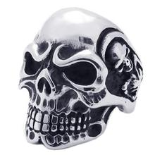 Fashion Stainless Steel Skull Rings Punk Women Men Silver Hyperbole Knuckle Big Rings for Men Bague Anillos Mujer все цены