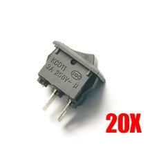 20pcs ON/OFF I/O SPST Snap AC 250V 3A 2 Pin  in Mini Boat Rocker Switch — ALI88
