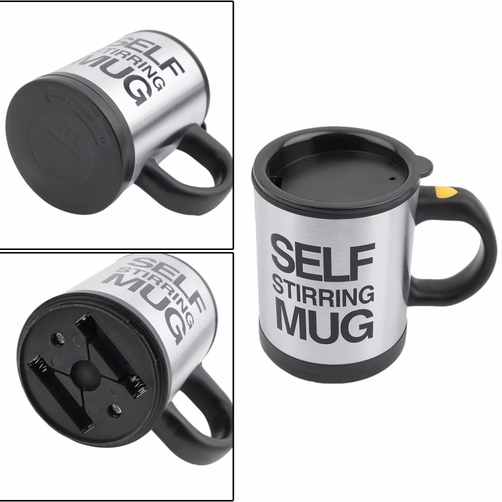 High Quality Electric Automatic Coffee Mixing Cup / Mug Drinkware Stainless Steel Cup Coffee Mug Self Stirring Tea Cup Tool keyboard mug cup 3pcs