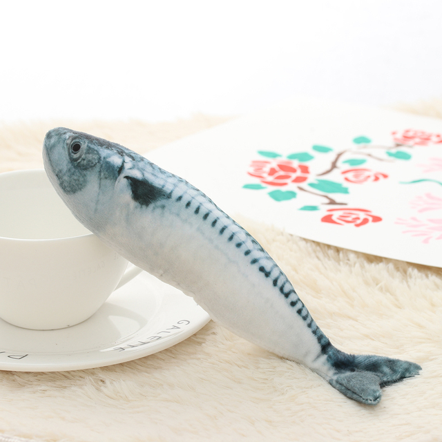 1PC Artificial Fish Plush Pet Cat Puppy Dog Toys Sleeping Toy Cat Mint Catnip Toys Cute Fish Tank Aquarium Decoration 4