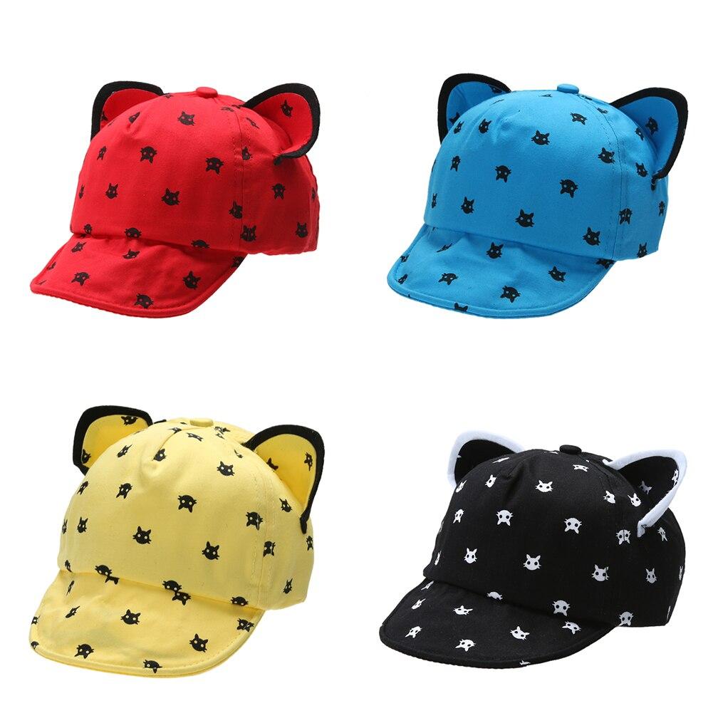 font b Baby b font Summer Hat Lovely Cat Ear Sun Hat Kids Baseball Cap