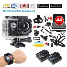 1080P 30FPS 16MP 4K WIFI Sports Action Camera+Remote+Battery+44 in1 Accessories Free shipping
