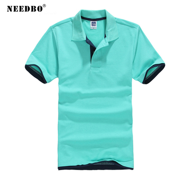 цена на NEEDBO Polo Shirt Men Cotton Plus Size Slim Shirt High Quality Jerseys Brands Men Polo Shirt Short Sleeve t Summer Polo Homme