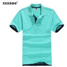 Рубашка поло needbo Мужская Тонкая блузка из хлопка брендовая