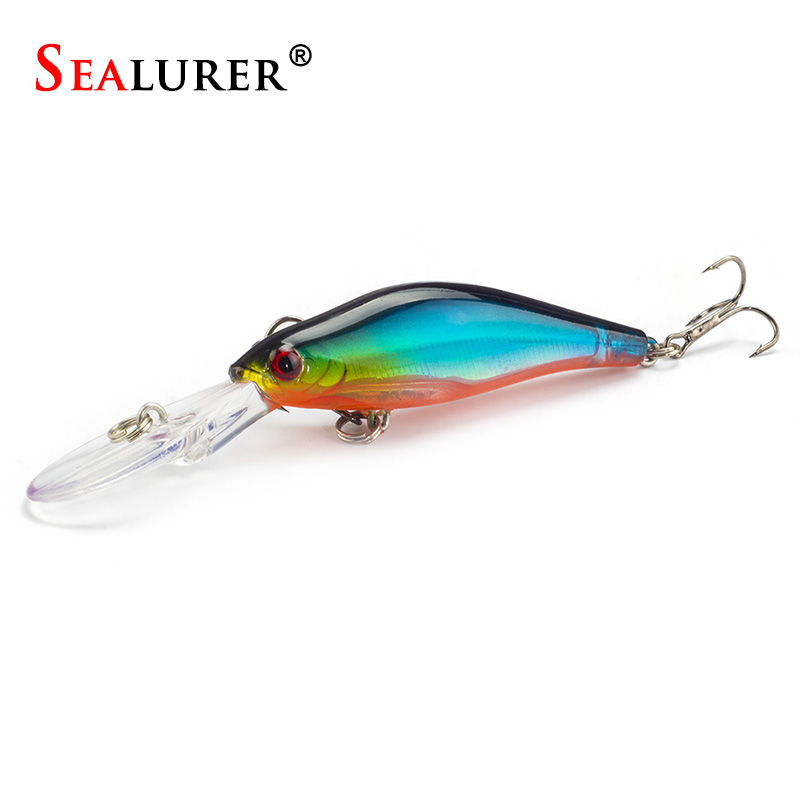 Laser sinking slowly minnow minnow fishing lure 9cm 7 for Fly fishing lures