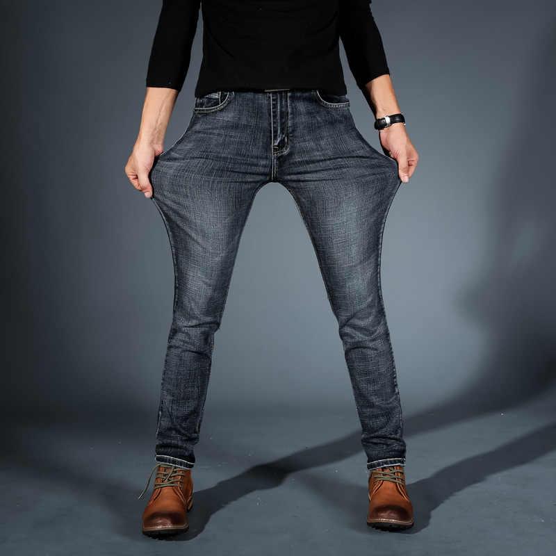 Jeans elásticos para hombre de mezclilla Skinny 2019 nueva marca Casual pantalones lápiz ropa de primavera ropa de calle
