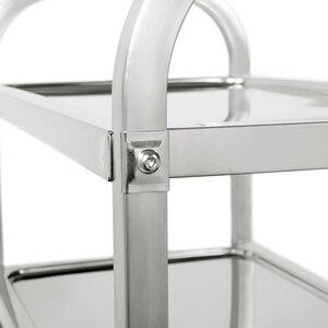Image 5 - Carlito cocino chariot de cuisine à 3 niveaux, chariot de cuisine, Restaurant, grand de traiteur en acier inoxydable, HWC