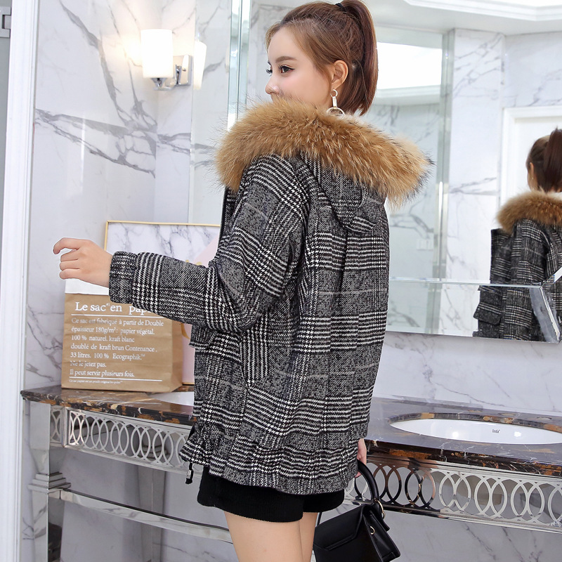 Winter New Style Short Removable Hooded Thicked Loose Womens ZIPPER  Jacket