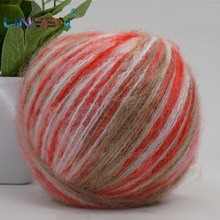 5 pieces*50g High grade mohair multicolour Knitwear Hand Knitting gradient For Knitting & Crocheting Scarf Sweater DIY ZL59(China)