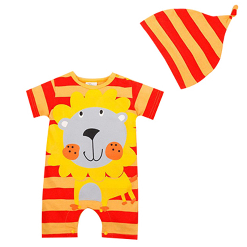 Baby Rompers Summer Baby Boy Clothes Car