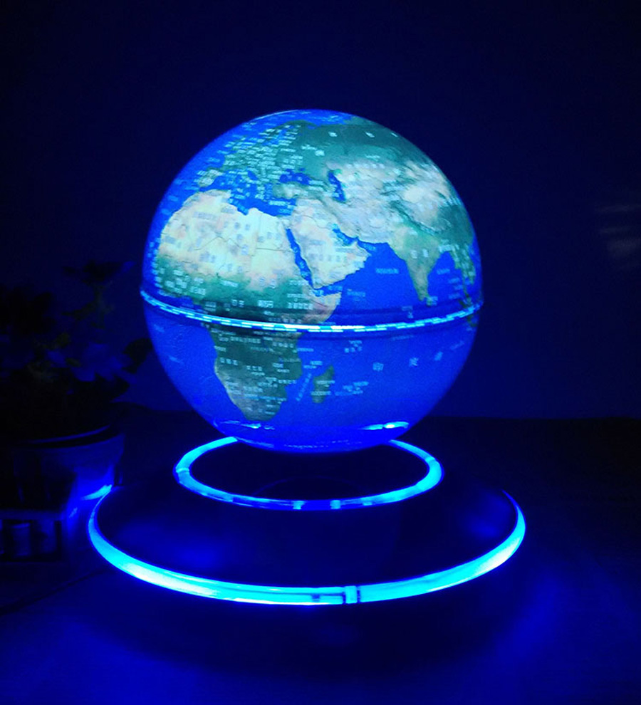 6 inch electronic magnetic levitation floating luminous globe world 6 inch electronic magnetic levitation floating luminous globe world map for business boss friend christmas birthday gifts in figurines miniatures from gumiabroncs Images