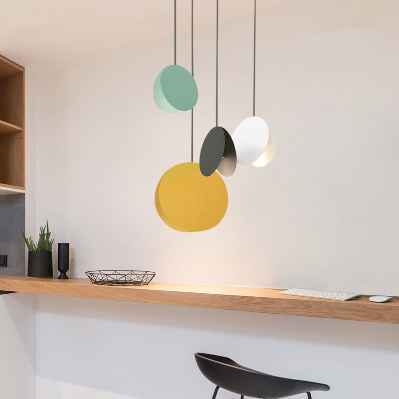 Creative shell dining table pendant lamp Nordic modern minimalist entrance balcony cafe iron bedside pendant lights ems free shipping pendant lights fashion balcony lamp entrance lights rustic lamps b1801c zzp