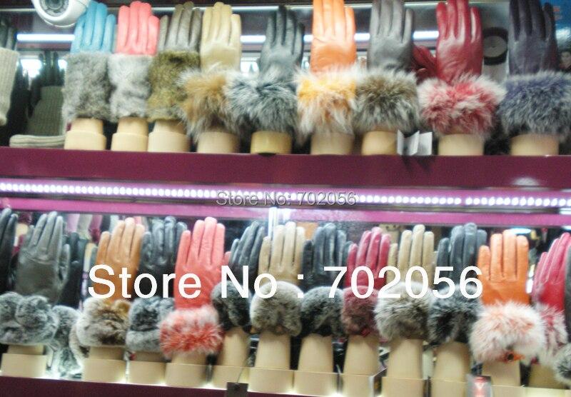 2015 Kožené kožené rukavice z kůží Kid KOŽENÉ RUKAVICE dámské SUPER HIGH QALITY 5pairs / lot # 3341