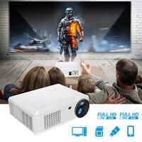 1080 P 3500 люмен светодио дный проектор для домашнего Театр портативный мини проектор с AV кабель дистанционного управления