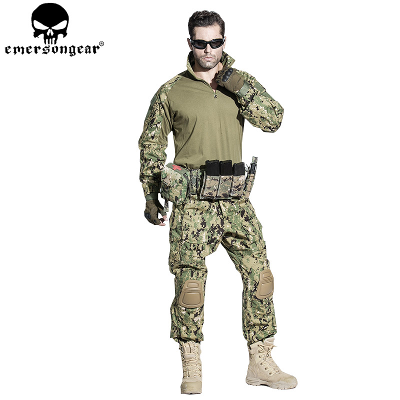 EMERSONGEAR G3 Combat Shirt  Airsoft Paintball Hunting Shirt Army BDU Military Tactical T-shirt AOR2 EM8596 emersongear g3 combat shirt pants military bdu army airsoft tactical gear paintball hunting uniform bdu atacs au emerson