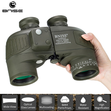 Military Binoculars Rangefinder 10x50 Telescope Hunting Durbun Waterproof Professional with Harness Strap Tripod Connector BNISE