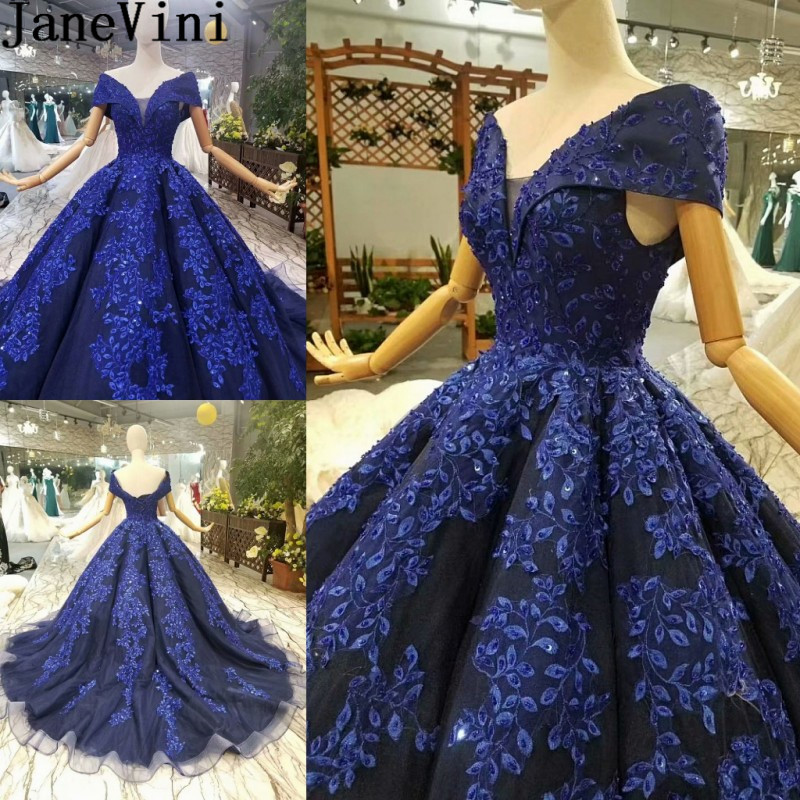JaneVini Bonzer Ball Gown Beaded Long Prom Dress Robe Bridesmaid Sequined Dubai Women Wedding Party Dress Vestido Invitada 2019